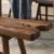 north american imported black walnut dining room courtyard solid wooden bench outdoor