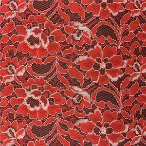 Changle Supplier Stocklot Blue Black Red Burgundy Lace Fabric