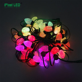 christmas lights led c7 rgb ws2811 pixel led string lights mouth bulbs for dc12v 30w