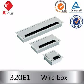 7078mm black desk cable tidy outlet metal cube grommet insert