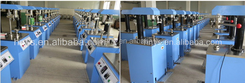 Low price semi automatic plastic can metal cover sealer/milk powder cans capping machine