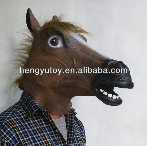 Hot Sale Colorful and Multifunction funny latex accoutrements horse costume