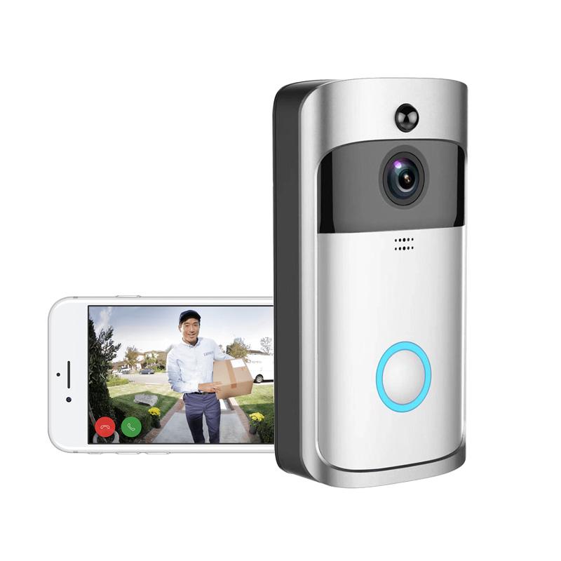 Düşük güç tüketimi Cep telefonu aktif uyandırma basit kurulum kamera Akıllı Etkin Video ip wifi kapı zili