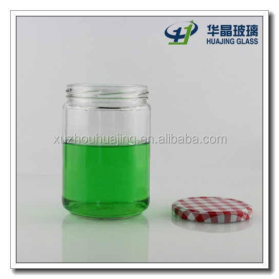 500ml food glass container canned food glass jars with lug for Decor 500ml container