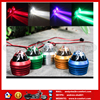 CM002 Cars fish eye lens spotlights LED license plate light one with two taillights brake lights flash red and blue burst