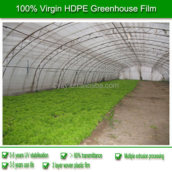 china manufacture offer 100% new material with uv pe film 200 micron greenhouse film