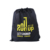 210D outdoor sport custom logo wholesale black printed calico plastic polyester nylon custom drawstring bags