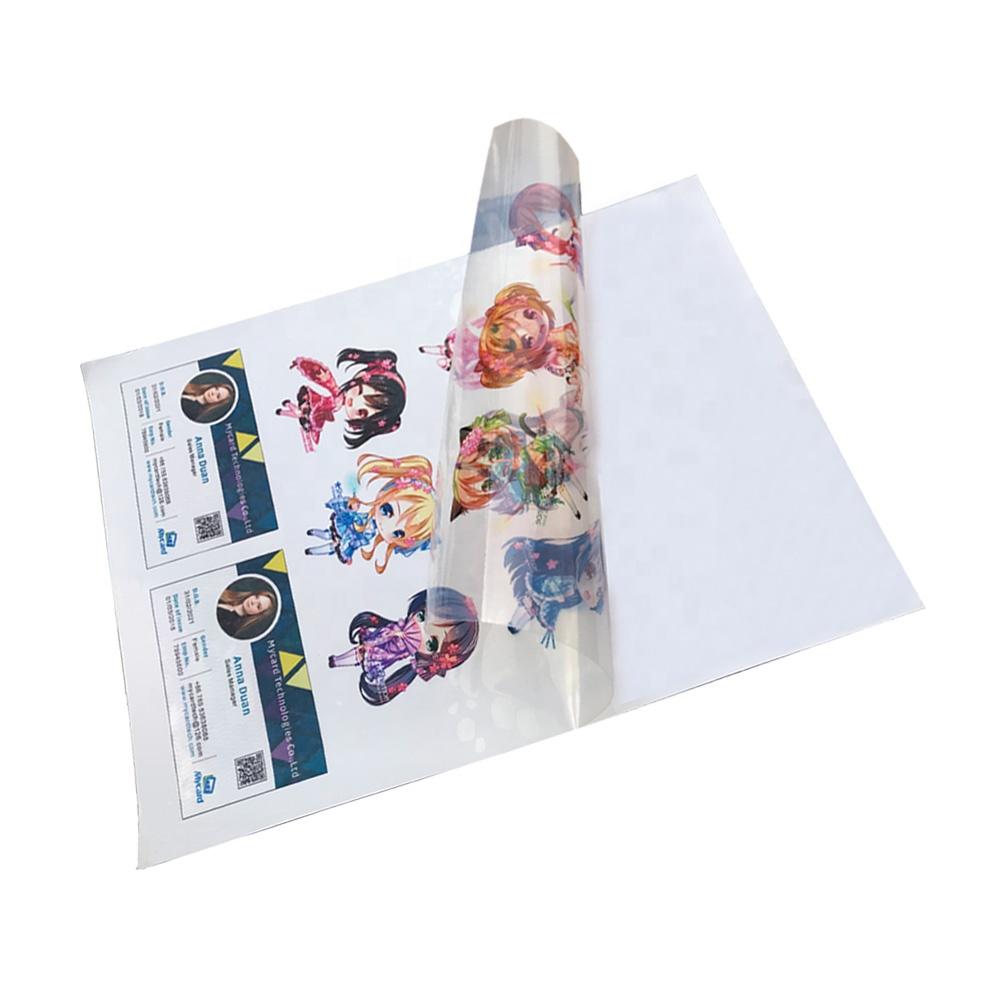 Transpa Glossy Inkjet Pvc Sticker