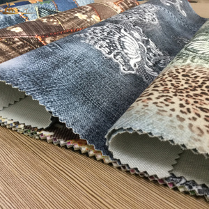 China knitting velvet printing manufacture stone washed oxford style printing on velvet fabric for upholstery