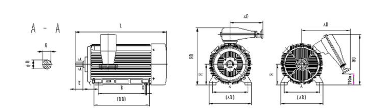 High Voltage Squirrel Cage 3 Phase 132 Kw 180 Hp Electric Motor ...