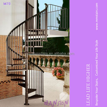 Modular Galvanized Outdoor Steel Spiral Staircase/Outdoor Staircase