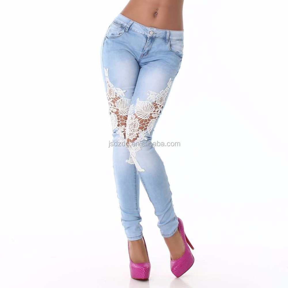 alibaba pants women jeans plain fabric fashion pants women colthing