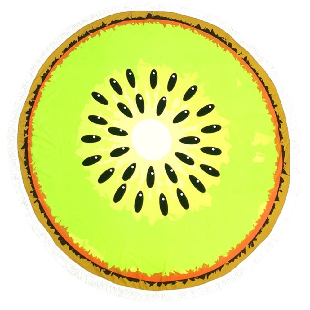 Cat Logo De Fabricantes De Kiwi Fruta Redonda Toalla De Playa De