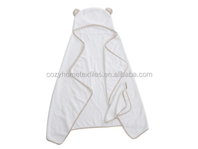 Hot Sale Organic Bamboo Baby Towels with Hood 2017 Premium Hooded Baby Towel and Washcloth Set