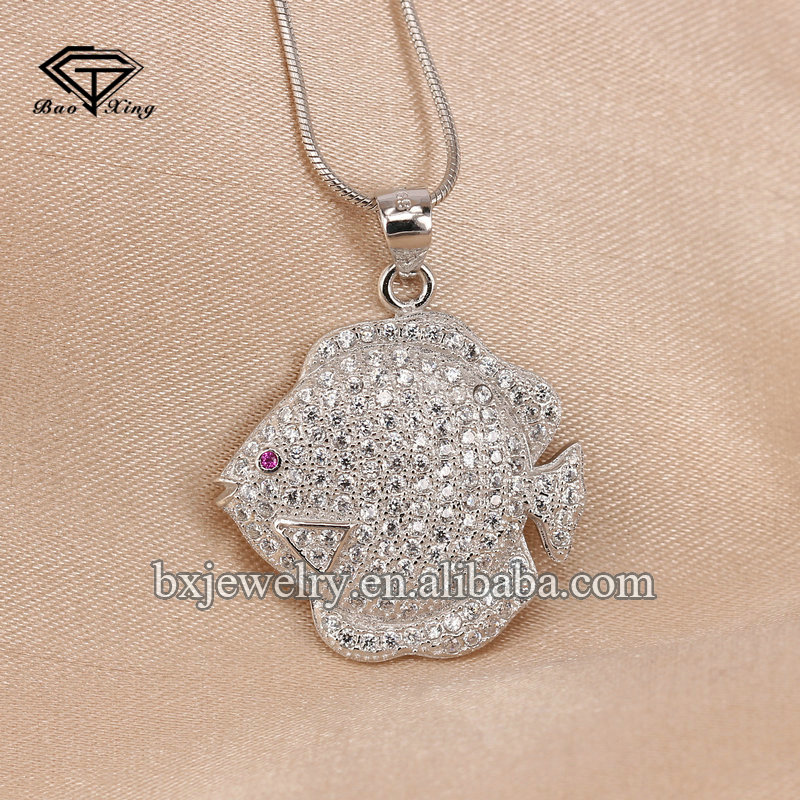 Women gift ideas personalized simple design silver fish cheap chinese jewelry