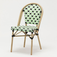 Faux Bamboo Chair French Stylish Rattan Restaurant Chair