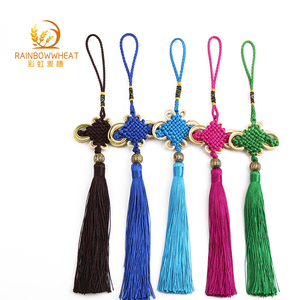 26cm Long Handmade With Tassel Chinese Fu Knot, Chinese top knot
