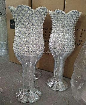Ceramic tall goblet wedding centerpieces floor vase for marriage ceramic tall goblet wedding centerpieces floor vase for marriage decor 120cm junglespirit Choice Image