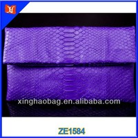2015 Luxury Evening Clutch Women Bag Snake skin leather ladies clutch bag