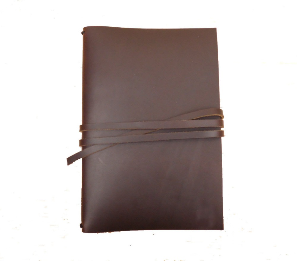 Personalised leather bound diary notebook cover to fit for 2 A5 books and can be monogrammed as perfect gift for sending