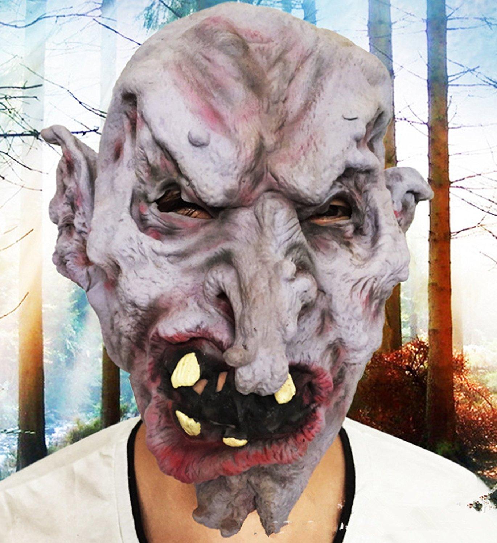 micrkrowen Halloween party cosplay mask Terror scary monster Kamen