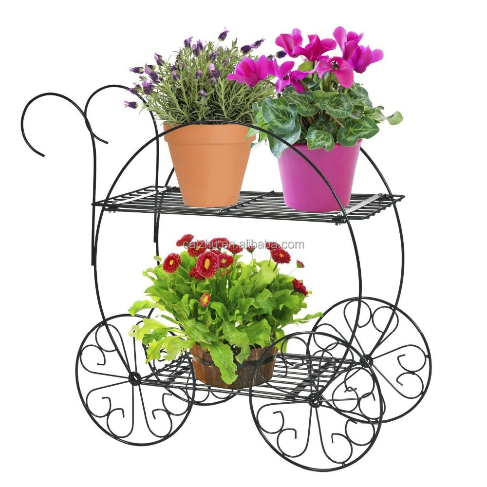 bicycle planter stands outdoors  Bicycle Flower Pot Stands Yard Decorative Plant Metal Wedding Garden ...