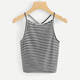 2018 summer new style Striped Knit Cami Top