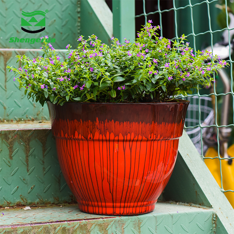China manufacture cheap flower pots fashion rose gold color design ceramic plant pot for indoor outdoor