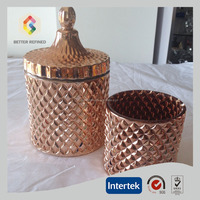 Hot Selling Diamond Candle Vessels Copper