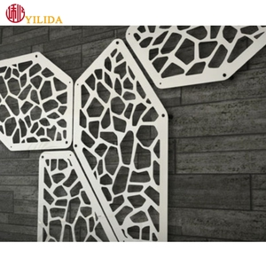 Construction materials Stainless steel aluminum decorative metal perforated panels for cladding