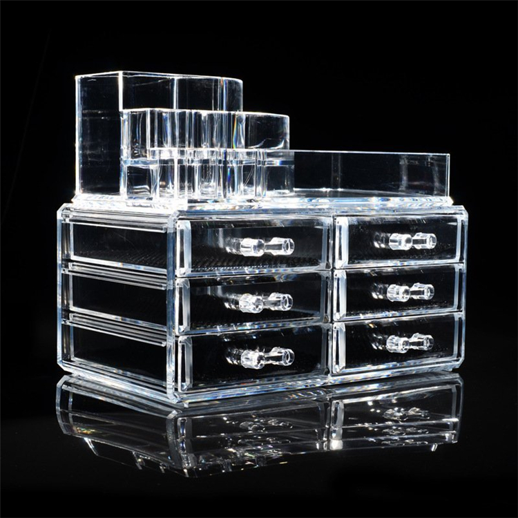 Wholesale Acrylic mac makeup organizer with 4 drawers