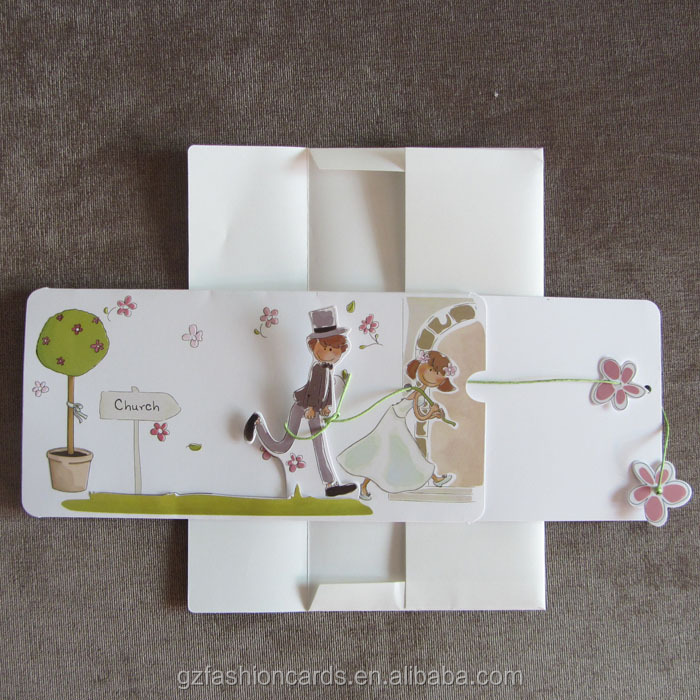 Fashionable 3D Pop Up Wedding Card
