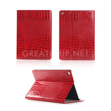 2016 Fashion Crocodile smart case for IPad pro,sleeping PU leather with card slots for IPAD pro/mini4 case