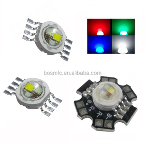 teeth whitening led light high power RGBW 5 watt chips red/blue/green/white full color 8 pins RGBW LED diode