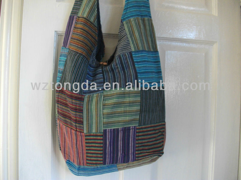 Hippy Boho striped Cotton Bag WZ7089