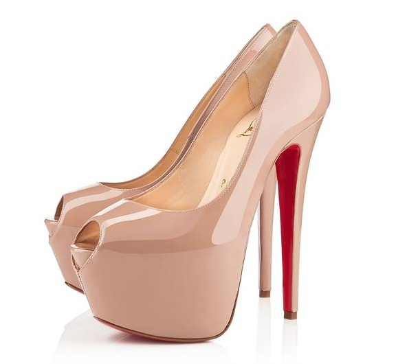 5d145675cd2 Get Quotations · Free shipping 2014 red sole highness Shoes nude patent  leather shoes New Daffodile shoes 16CM platform