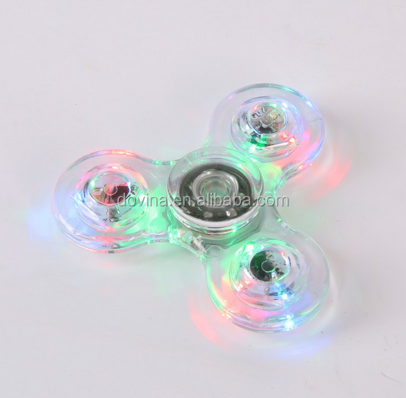 ABS crystal LED Fidget Spinner Toy hand spinner for Pressing Relief&Anxiety Relife