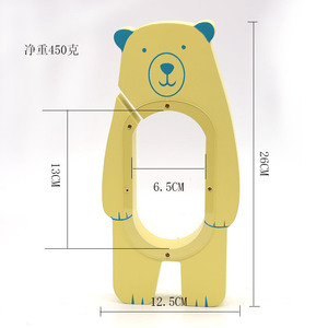 cartoon bear shape saving money wooden coin storage box for home decoration