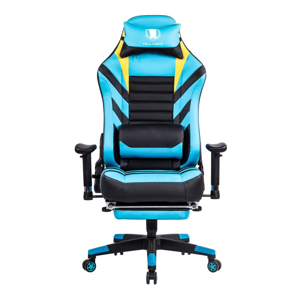 Surprising 2018 Killabee Blue Gaming Chair High Back Office Chair With Unemploymentrelief Wooden Chair Designs For Living Room Unemploymentrelieforg