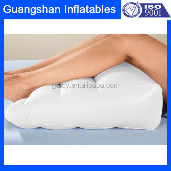 custom Medical PVC inflatable bed wedge pillow for leg rest