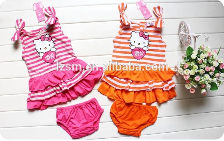 Patrones de dibujos animados girls\' para bebés de algodón sin mangas ...