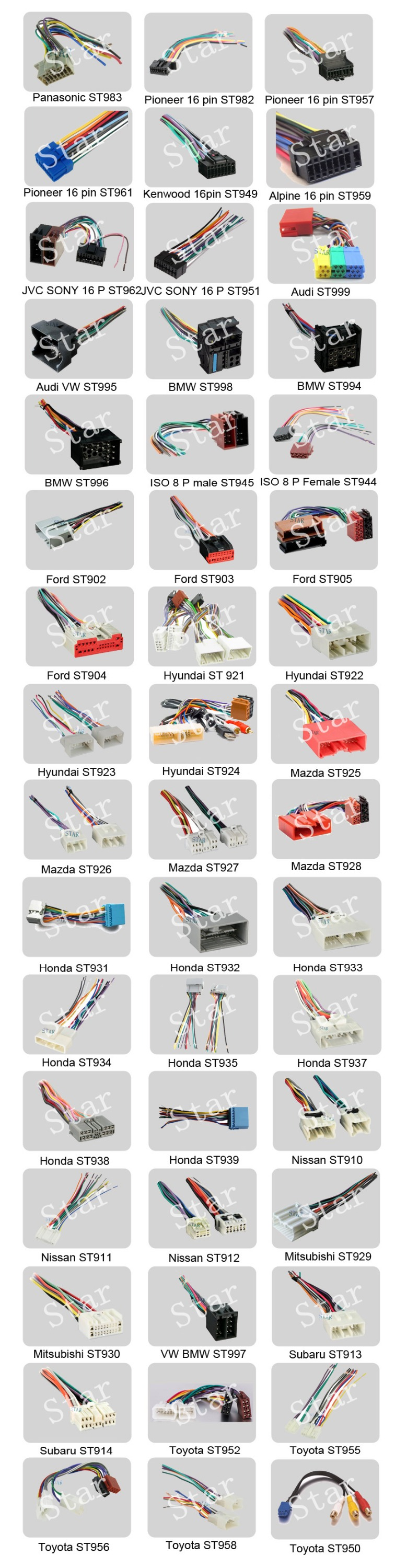 factory auto car electrical iso connector wiring harness for factory auto car electrical iso connector wiring harness for different audio brands