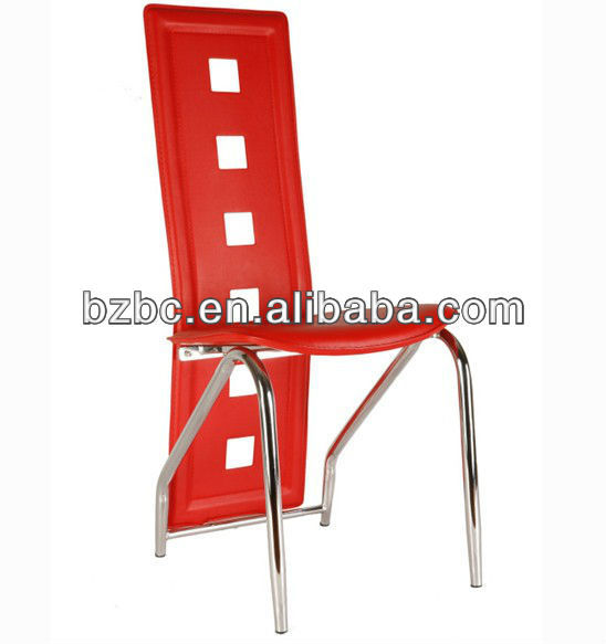 red color Modern PVC dining chairs for uk