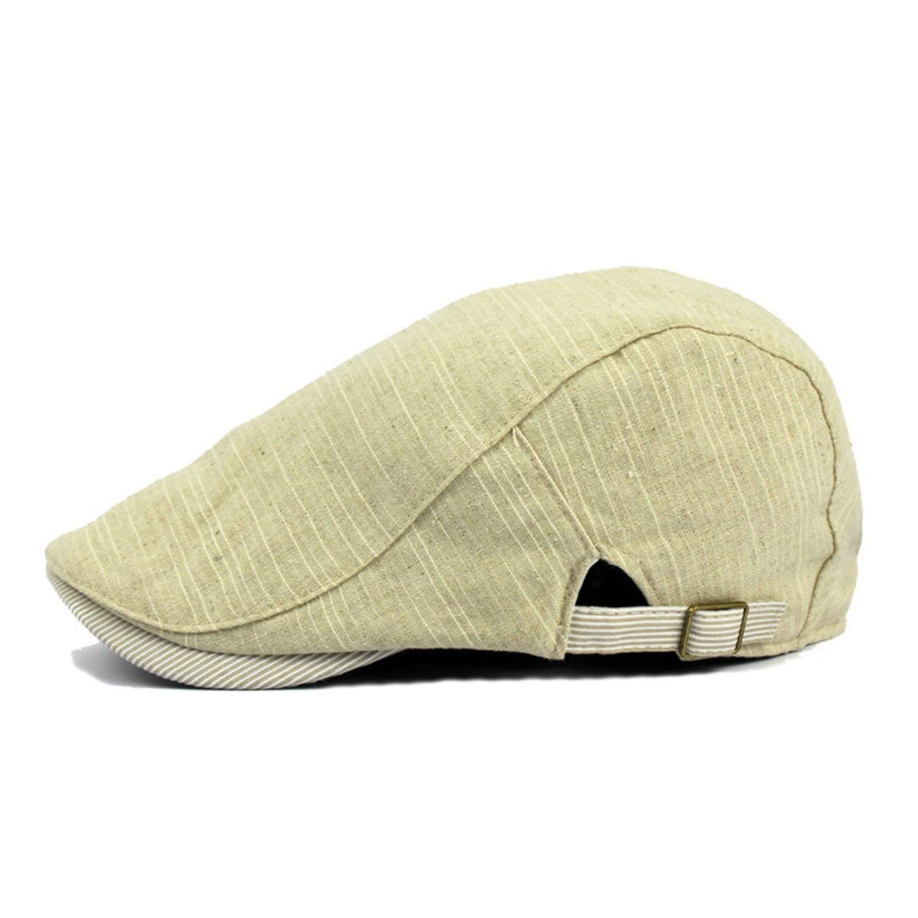Get Quotations · Eohak Flat Linen Ivy Cap - Unisex Cabbie Hat Breathable Driving  Hat Vintage Casual ef242d3db3a6