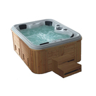 Outdoor frestading hot jacuzzi Bath tube big SPA with Jets wooden bathtub computer controlled massage bathtub