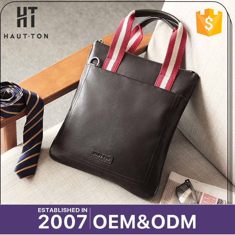 New Model Popular Casual Soft Messenger Bags High Quality Men Brown Genuine Top Cow Leather Handbag Briefcases