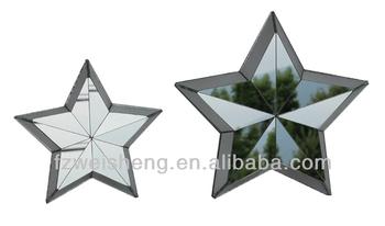 Decorative Mirrored Stars Star Wall Decor Set