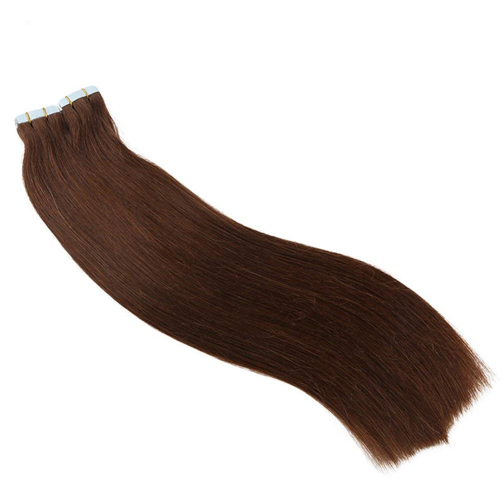 """Tape in Human Hair Extensions 16"""" 18"""" 20"""" 22"""" 24"""" 26Inch 40pcs 100g set Remy Hair Tape Hair Extensions Straight Skin Weft 100% Human Hair(26inch Color4#)"""