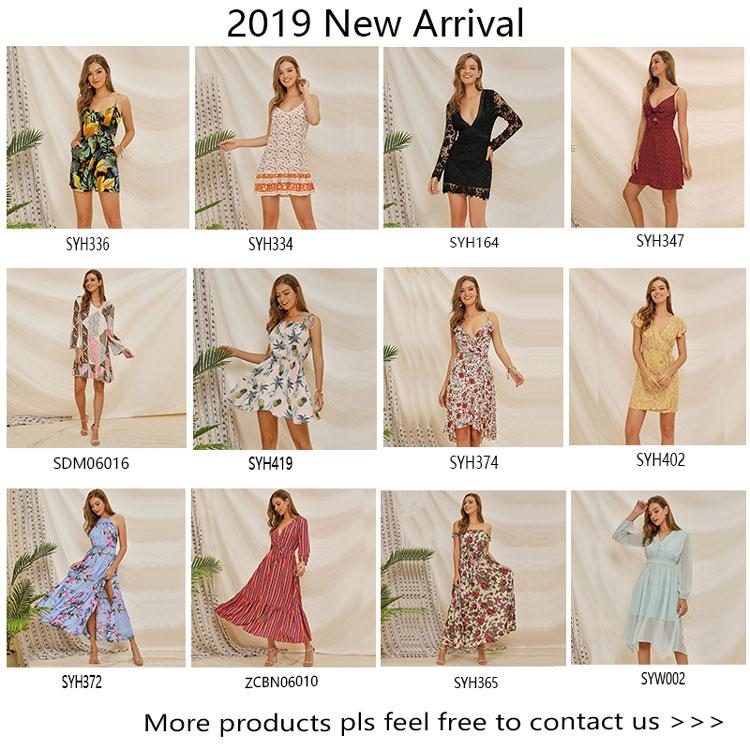 2019 新スタイル夏のファッションホルターネックオープンバック花柄ドレス床の長さマキシ自由奔放に生きる服
