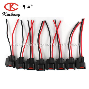 Terrific Custom Automotive Ev6 Ev14 Us Car Fuel Injector Connector Pigtail Wiring Cloud Hisonuggs Outletorg
